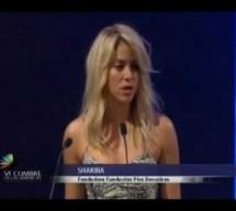 El discurso de Shakira en la Cumbre de las Americas